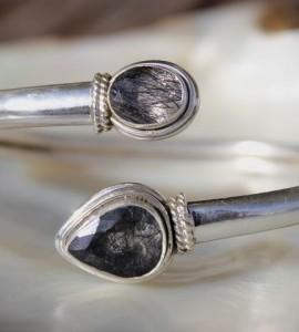 Bracelet amour bijoux argent pierres naturelles quartz shantilight