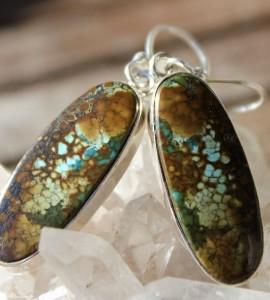 Bijoux argent boucles d'oreilles ethniques turquoise shantilight