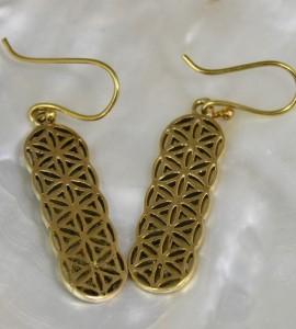 Bijoux ethnique boucles d'oreilles laiton Caen shantilight