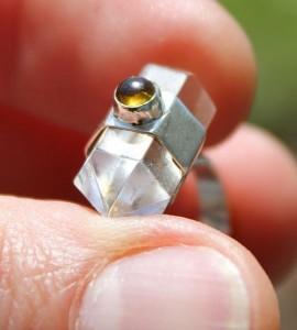 Bague ethnique cristaux quartz shantilight Caen