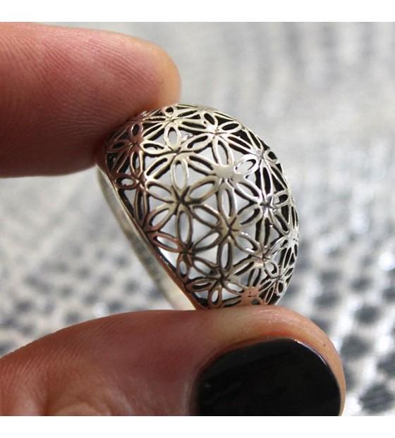 Bague argent bijoux indiens géométrie sacrée shantilight