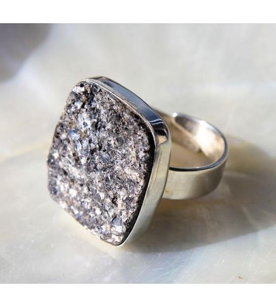 Bague argent bijoux ethniques pierre biotite shantilight
