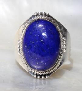 Bague homme bijoux argent lapis lazuli shantilight