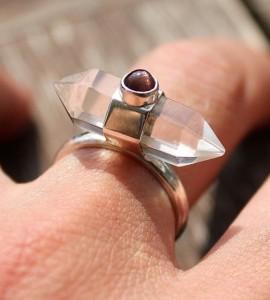 Bijoux ethnique cristal bague argent shantilight caen