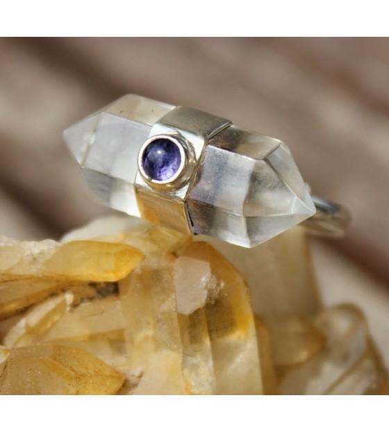 Bijoux ethnique bijoux caen bague argent pierres naturelles cristal shantilight