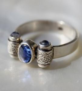 Bijoux argent bague steampunk pierres naturelles shantilight