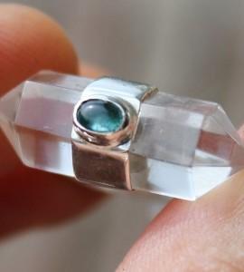 Bague argent bijoux pierres naturelles cristal tourmaline shantilight