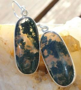 Bijoux ethniques boucles d'oreilles pierres naturelles shantilight