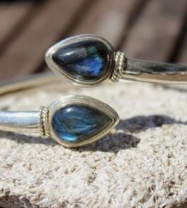 Bracelet argent labradorite fait main shantilight
