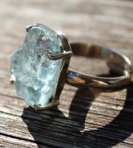 Bague argent bijoux ethnique pierre brutes shantilight