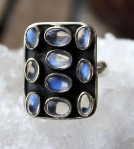 Bague argent bijoux ethnique pierre de lune shantilight