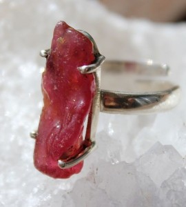 Bague  ethnique bijoux indiens rubis shantilight