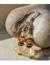 Boucles d'oreilles argent pierres naturelles de citrine Shantilight