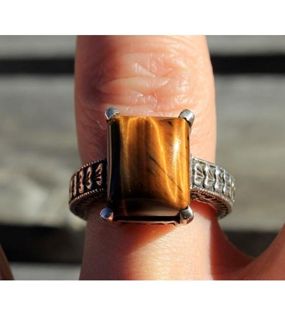 bague ethnique bijoux argent oeil de tigre shantilight