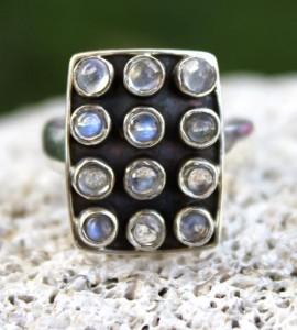 Bijoux argent bague ethnique pierre naturelle péristérite shantilight