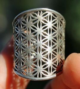 Bijoux argent bague ethnique fleur de vie shantilight