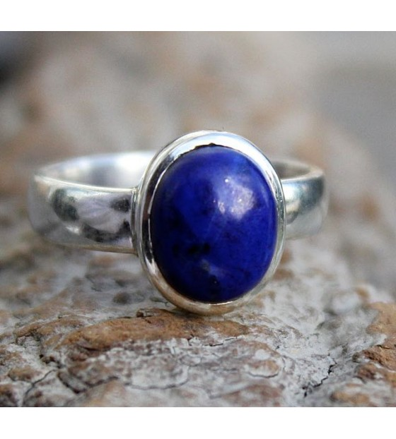 Bijoux homme bague argent lapis lazuli shantilight