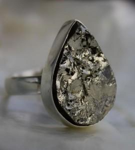Bijoux ethnique bague argent pierre brute shantilight