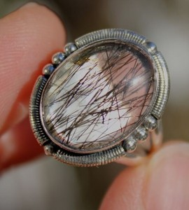 Bague argent bijoux quartz rutilé tourmaline shantilight