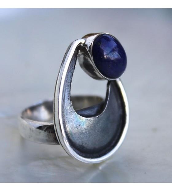 Bague argent bijoux lapis lazuli shantilight