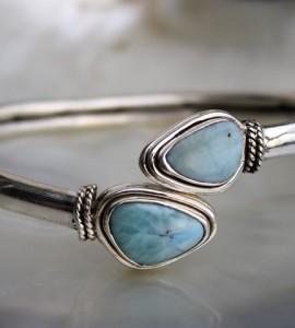 Bracelet argent bijoux larimar shantilight