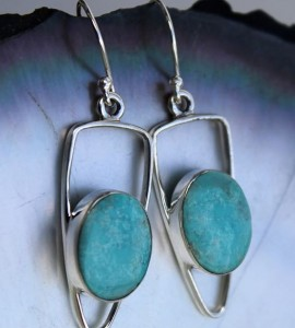 Bijoux ethnique boucles argent turquoise shantilight