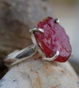 bijoux ethnique bague argent rubis shantilight