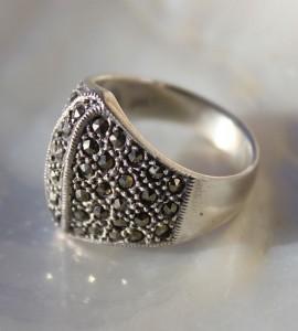 Bague indienne argent pyrite shantilight
