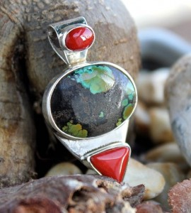 bijoux homme pendentif argent pierres shantilight