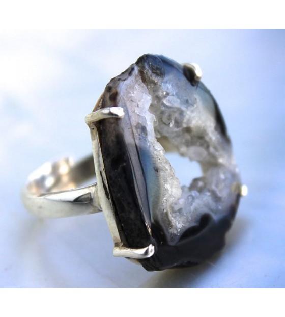 Bijoux ethnique bague argent pierre naturelle agate cristaux Shantilight d6d9a0f4a1b5