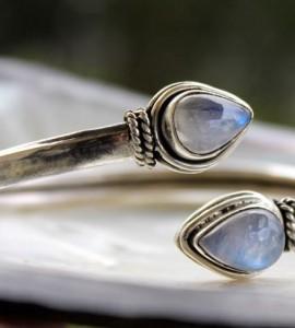 Bracelet argent bijoux pierre de lune peristerite Shantilight
