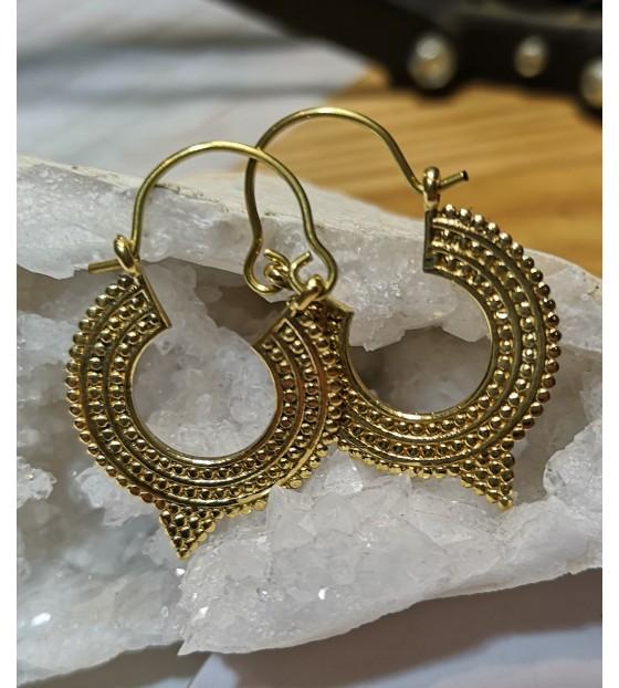 Bijoux ethnique boucles d'oreilles laiton shantilight