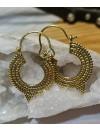 Boucles d'oreilles laiton bijoux ethnique créoles shantilight