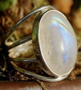 Bague argent peristerite pierre de lune Shantilight