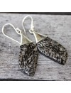 Boucles d'oreilles argent caps pierres naturelles corail fossilisé shantilight
