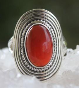 bague ethnique bijoux argent pierre shantilight