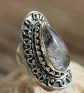 Bague ethnique bijoux pierre quartz Shantilight