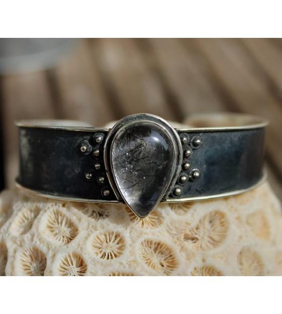 Bijou homme femme bracelet pierre naturelle quartz Shantilight