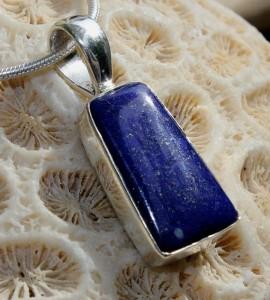 Pendentif argent lapis lazuli shantilight Caen