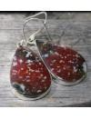 Boucles d'oreilles argent bijoux pierres naturelles jaspe shantilight