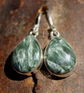 Boucles d'oreilles pierres naturelles séraphinite shantilight