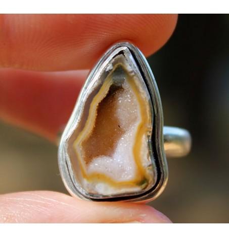 Bague argent pierre agate  shantilight