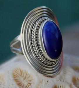 Bague argent bijoux indi ens lapis lazuli Shantilight