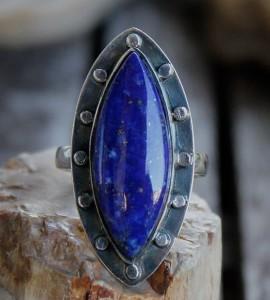 Bague lapis lazuli bijoux ethnique shantilight