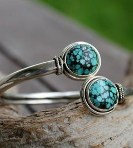 Bracelet argent duo pierres...