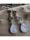 Boucles d'oreilles argent triptik pierres naturelles labradorite shantilight