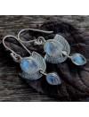 Boucles d'oreilles argent talisman bijoux ethnique pierre de lune Shantilight