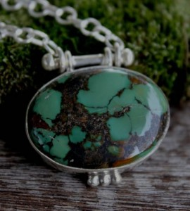 Pendentif ethnique bijou argent turquoise caen shantilight