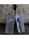 Boucles d'oreilles argent chics et modernes pierre de lune Shantilight