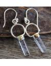 Boucles d'oreilles argent prismes bijoux ethniques cristal Shantilight